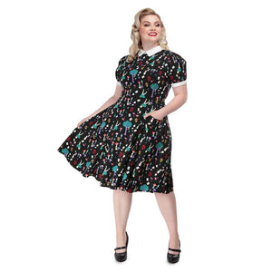 Peta In Wonderland Dress Collectif - Rockamilly-Dresses-Vintage