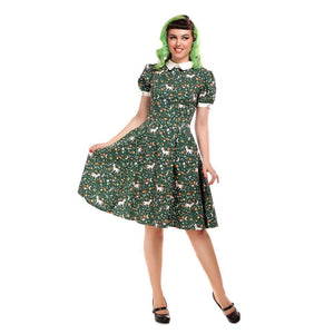Peta Unicorn Glade Dress - Rockamilly-Dresses-Vintage