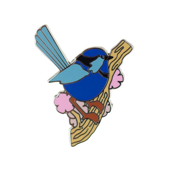 Phoebe the Fairy Wren Enamel Pin - Rockamilly-Jewellery-Vintage