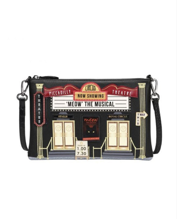 Piccadilly Theatre Pouch Bag - Rockamilly-Bags & Purses-Vintage