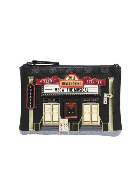 Piccadilly Theatre Zipper Coin Purse - Rockamilly-Bags & Purses-Vintage