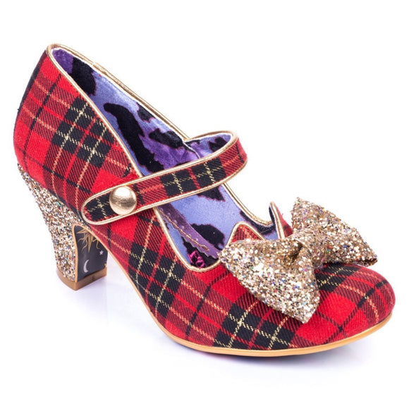 Piccolo Red/Gold Irregular Choice - Rockamilly-Shoes-Vintage
