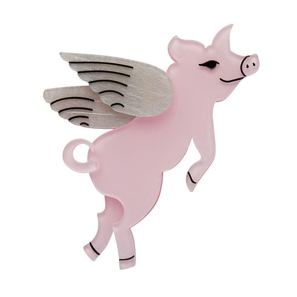 Pigs Can Fly Brooch - Rockamilly-Jewellery-Vintage