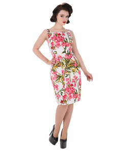 Pink Patricia Wiggle Dress - Rockamilly-Dresses-Vintage