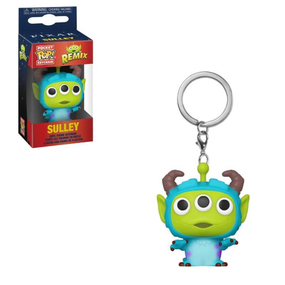 PixarAlienRemix Sulley Keychain - Rockamilly-Nulls Gift Product-Vintage