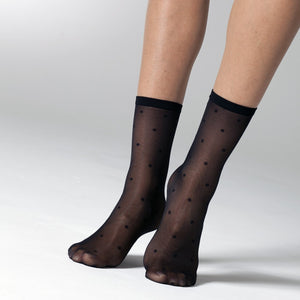 Polka Dot Ankle Socks - Rockamilly-Hosiery-Vintage