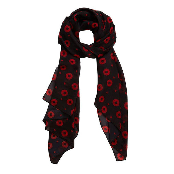 Poppy Field Neck Scarf Erstwilder - Rockamilly-Accessories-Vintage