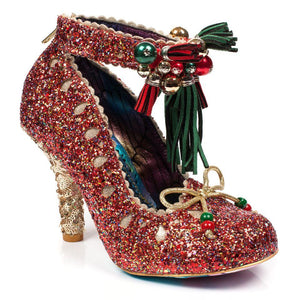 Princess Promise Red Party Heels Irregular Choice - Rockamilly-Shoes-Vintage