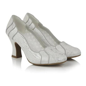 Priscilla White/Silver Ruby Shoo - Rockamilly-Shoes-Vintage