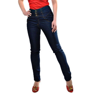 Rebel Kate Denim Jeans navy - Rockamilly-Bottoms-Vintage