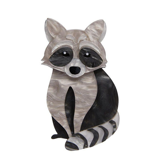 Rocket's Riot Raccoon Brooch Erstwilder - Rockamilly-Accessories-Vintage