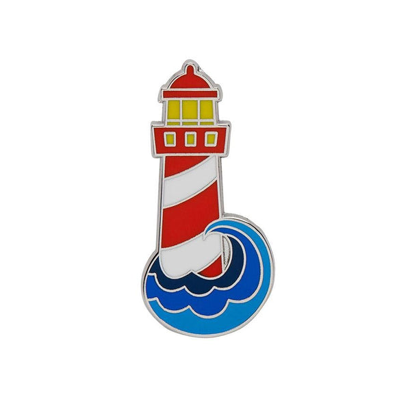 Round the Twist Enamel Pin - Rockamilly-Jewellery-Vintage