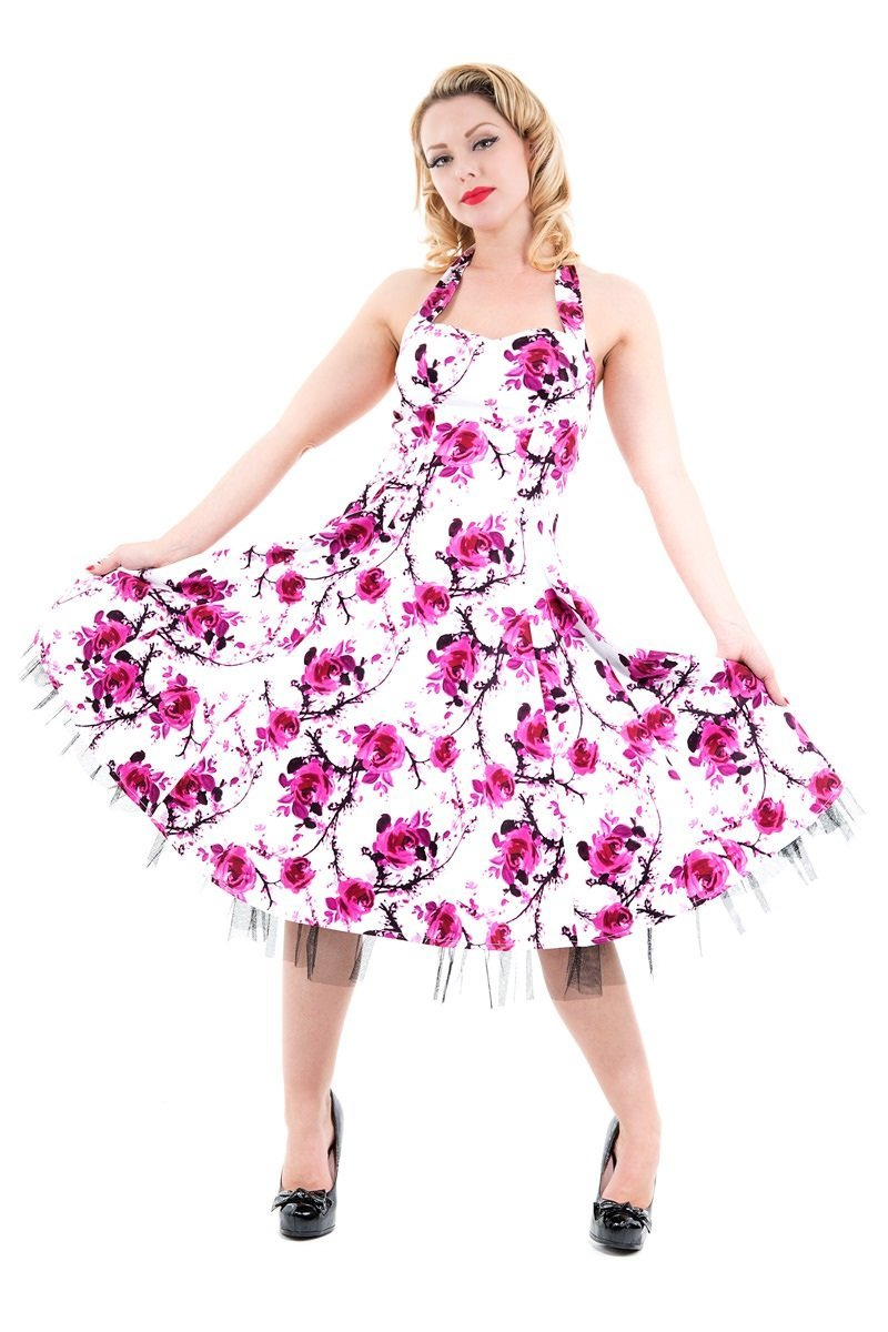 Sakura Blossom Swing Dress - Rockamilly-Dresses-Vintage