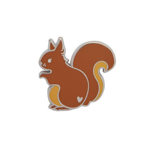 Scrupulous Squirrel Enamel Pin Erstwilder - Rockamilly-Accessories-Vintage