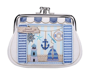 Seaside Souveniers Clipper Coin Purse Vendula - Rockamilly-Bags & Purses-Vintage