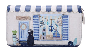 Seaside Souveniers Large Ziparound Wallet Vendula - Rockamilly-Bags & Purses-Vintage
