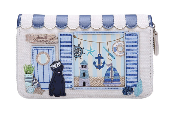 Seaside Souveniers Medium Ziparound Wallet Vendula - Rockamilly-Bags & Purses-Vintage