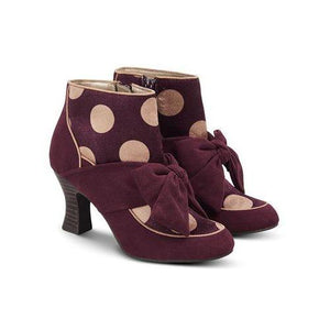 Seren Burgundy - Rockamilly-Shoes-Vintage
