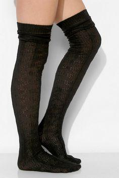 Slouch Over The Knee Socks - Rockamilly-Hosiery-Vintage
