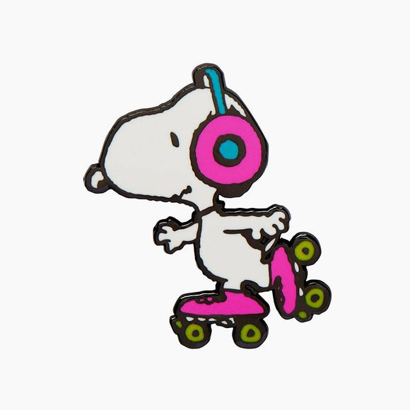 Snoopy on Skates Enamel Pin - Rockamilly-Jewellery-Vintage