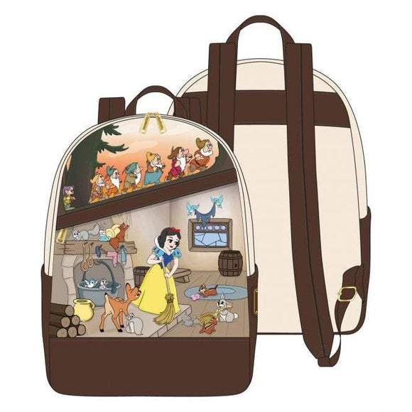 Snow White and the Seven Dwarfs Multi Scene Mini Backpack - Rockamilly-Bags & Purses-Vintage