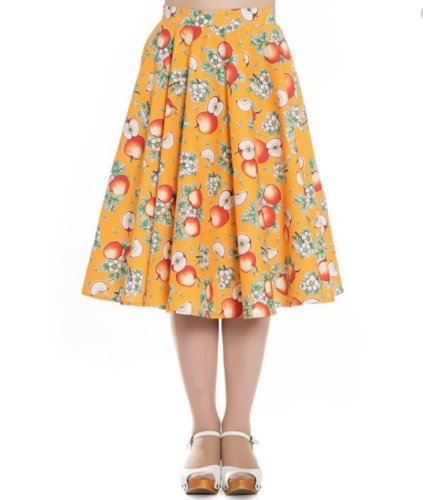 Somerset Apple Skirt Orange - Rockamilly-Skirts & Shorts-Vintage