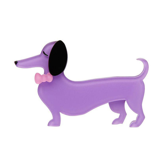 Spiffy the Sausage Dog Brooch - Rockamilly-Jewellery-Vintage