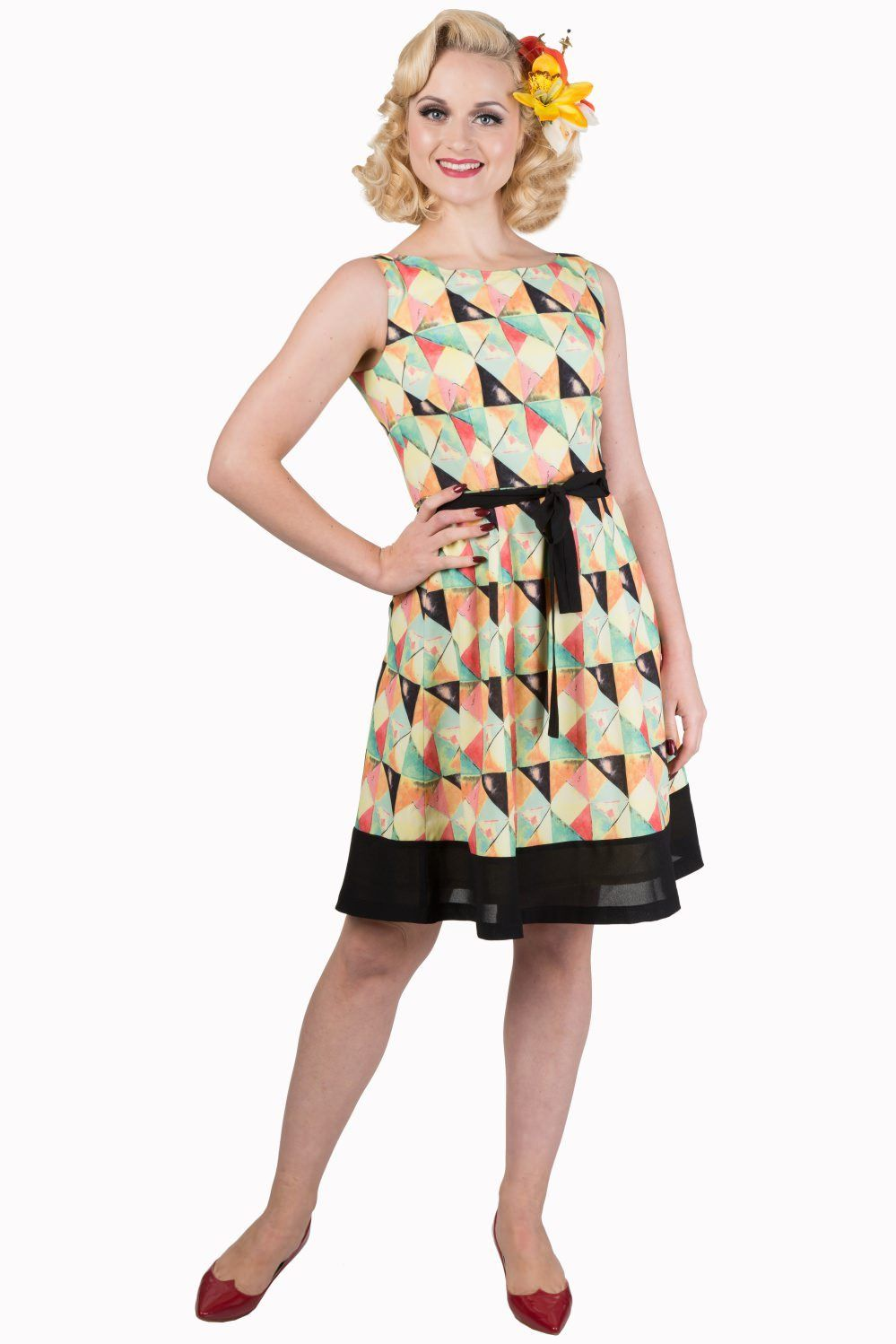 Stardust Retro Dress Banned - Rockamilly-Dress-Vintage