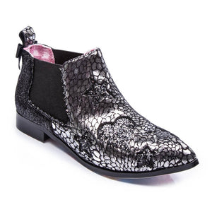 Starlight Empress Silver Boot - Rockamilly-Shoes-Vintage