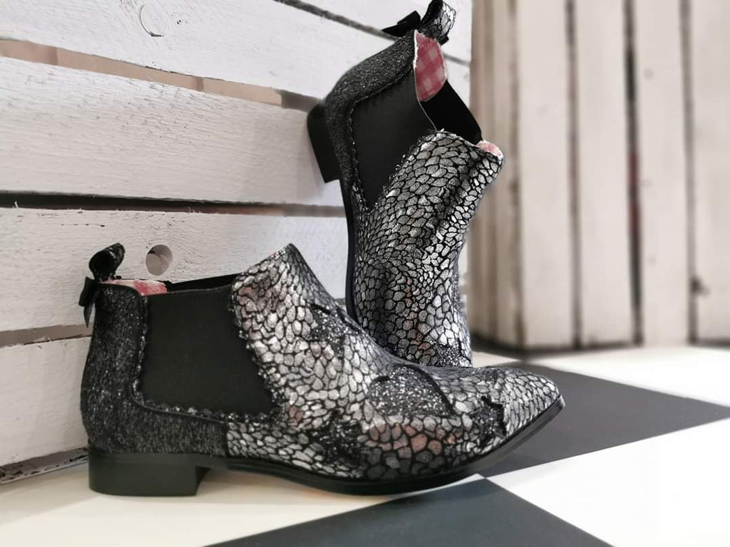 Starlight Empress Silver Irregular Choice - Rockamilly-Shoes-Vintage