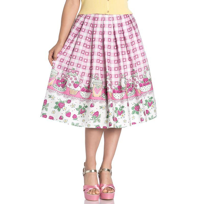 Strawberry Shortcake Skirt - Rockamilly-Skirts & Shorts-Vintage