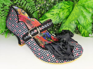 Summer Breeze Black Check Irregular Choice - Rockamilly-Shoes-Vintage