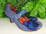 Summer Breeze Blue Check Irregular Choice - Rockamilly-Shoes-Vintage