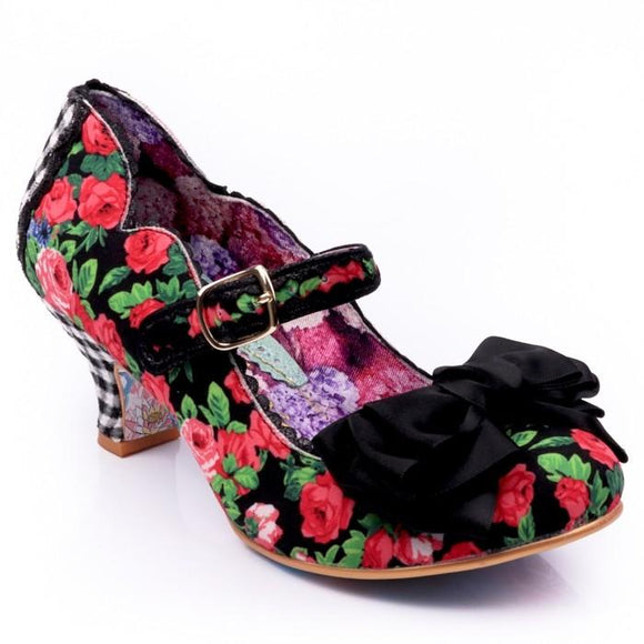 Summer Breeze Heels Black Irregular Choice - Rockamilly-Shoes-Vintage
