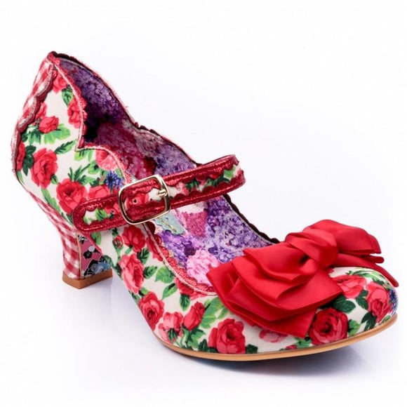 Summer Breeze Heels Red Irregular Choice - Rockamilly-Shoes-Vintage