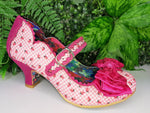 Summer Breeze Pink Check Irregular Choice - Rockamilly-Shoes-Vintage