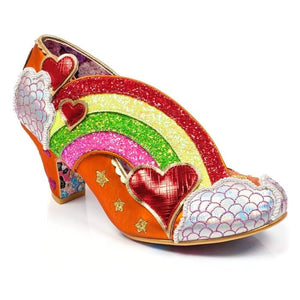 Summer Of Love Orange Irregular Choice Heels - Rockamilly-Shoes-Vintage