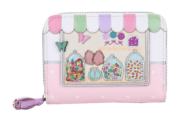 Sweetie Caravan Medium Zip Around Wallet - Rockamilly-Bags & Purses-Vintage