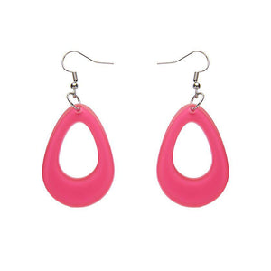 Teardrop Bubble Resin Drop Earrings - Pink - Rockamilly-Jewellery-Vintage