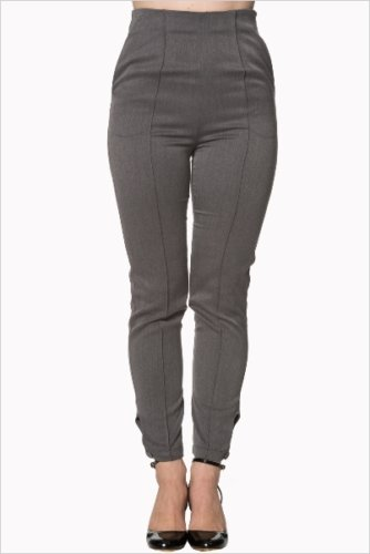Tempting fate grey trousers - Rockamilly-Bottoms-Vintage