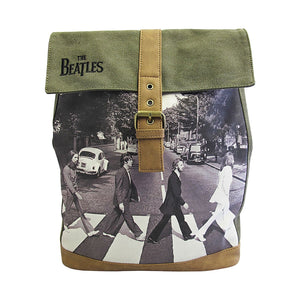 The Beatles Abbey Road Green Backpack - Rockamilly-Bags & Purses-Vintage