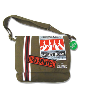 The Beatles Abbey Road Green Canvas Satchel - Rockamilly-Bags & Purses-Vintage