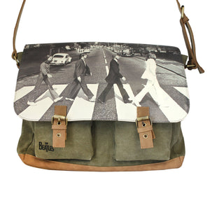 The Beatles Abbey Road Green Satchel - Rockamilly-Bags & Purses-Vintage