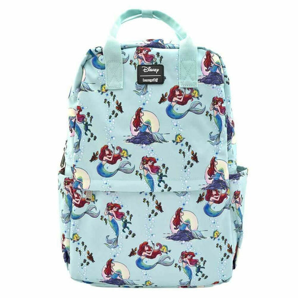 The Little Mermaid Ariel Square Backpack - Rockamilly-Bags & Purses-Vintage