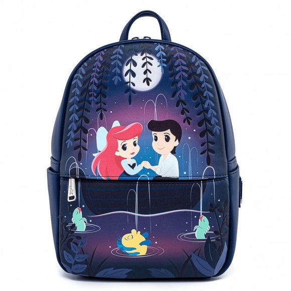 The Little Mermaid Gondola Scene Mini Backpack - Rockamilly-Bags & Purses-Vintage
