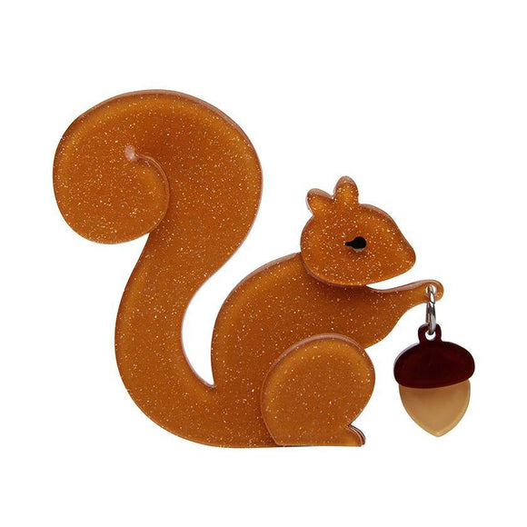 The Satisfied Squirrel Brooch - Rockamilly-Jewellery-Vintage