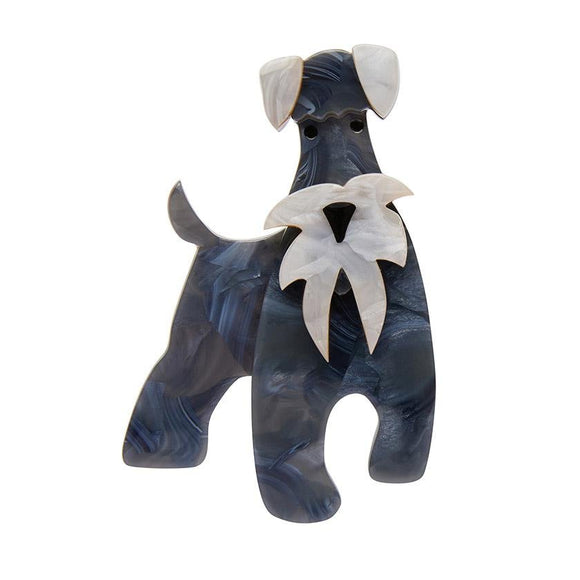 The Schnauzer and Klaus Brooch - Rockamilly-Jewellery-Vintage