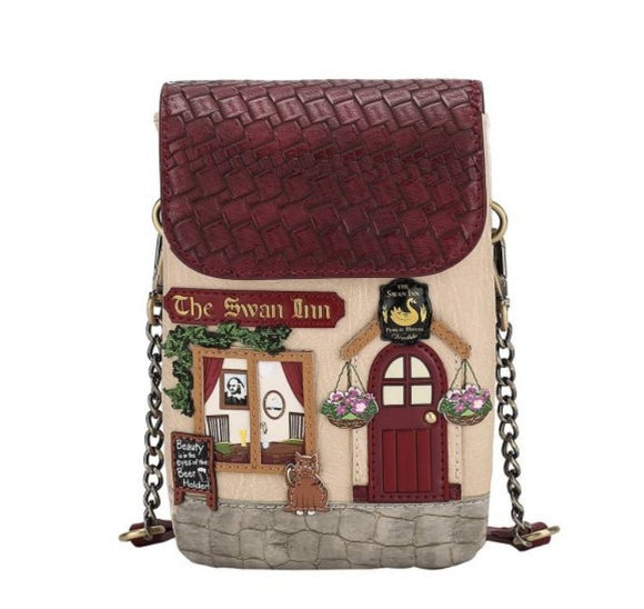 The Swan Inn Phone Pouch - Rockamilly-Bags & Purses-Vintage