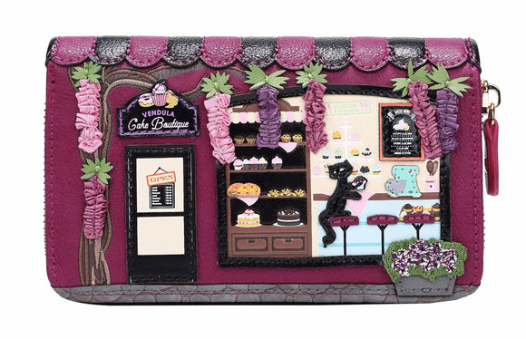 The Vendula Cake Boutique Medium Zip Around Wallet - Rockamilly-Bags & Purses-Vintage