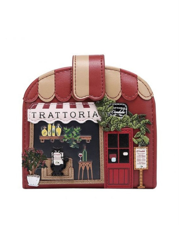 Trattoria Clipper Coin and Card Wallet - Rockamilly-Bags & Purses-Vintage